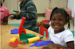 Preschool girl in classroom