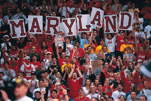 Terp Fans in Stands