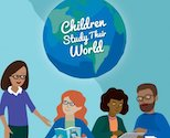 Children Study Their World logo featuring educator characters