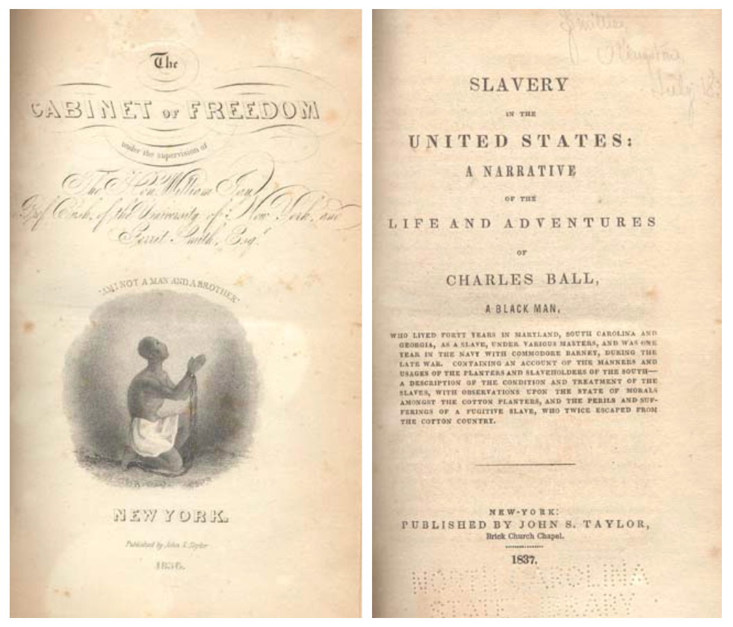 Cover image of Slavery in the United States: A Narrative of the Life and Adventures of Charles Ball.