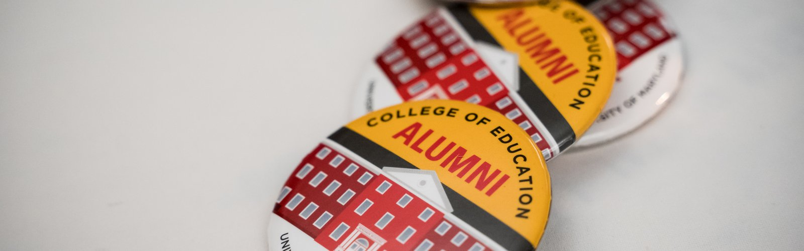 College of Education alumni buttons