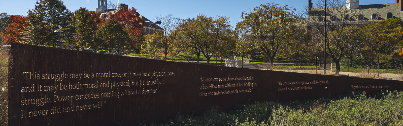 Frederick Douglass Square Garden Quote Wall