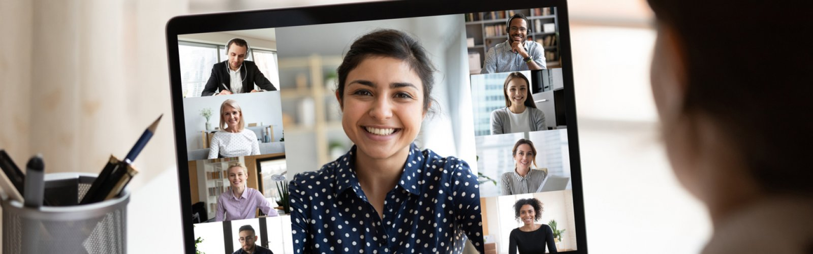stock photo of a virtual meeting
