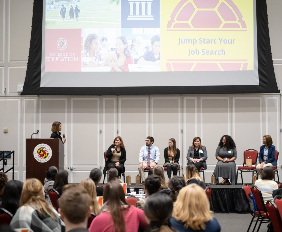 Student panel at Jump Start Your Job Search 2018
