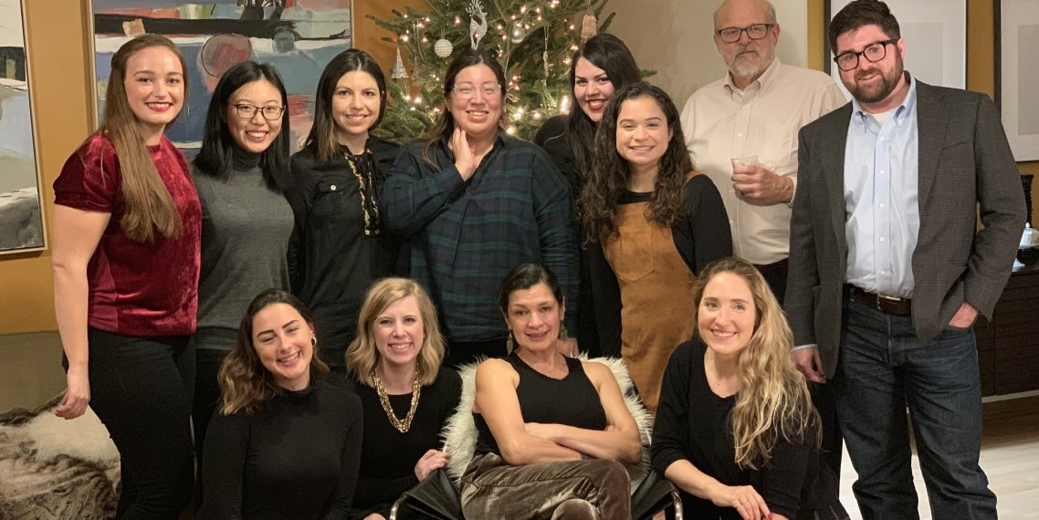 Members of the Family Involvement Lab pictured for the 2018 holidays