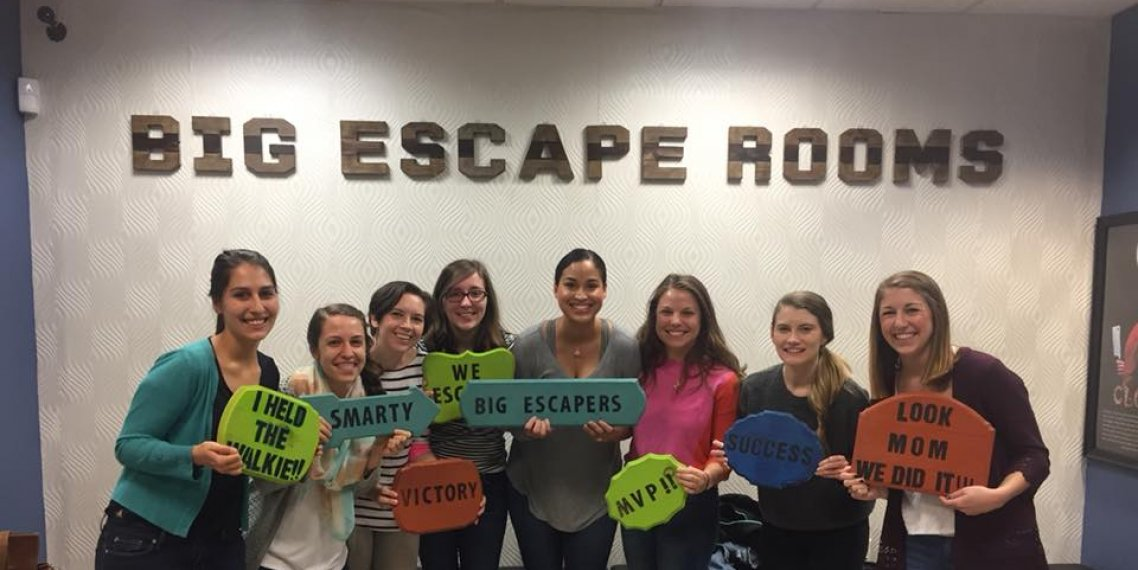 Students at an Escape Room