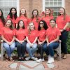 COE student ambassadors 2018 by Testudo statue