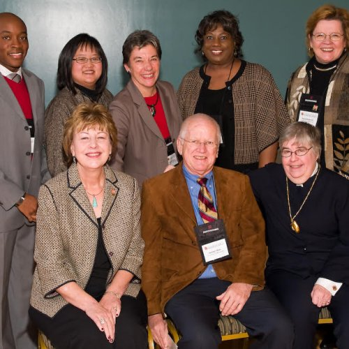 CSP 50th anniversary celebration symposium in 2008 with COE faculty pictured.