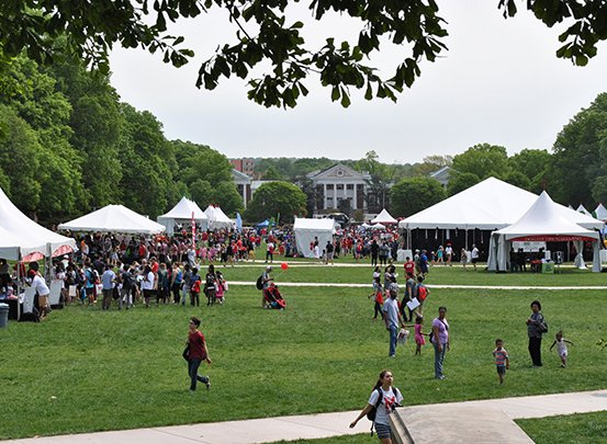 McKeldin lawn on MD Day 2017