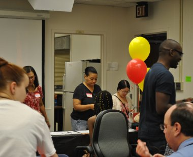 The fun begins for visitors to the 2018 Dean's office open house
